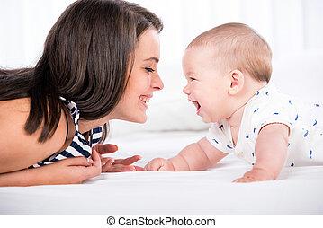 赤ん坊, お母さん