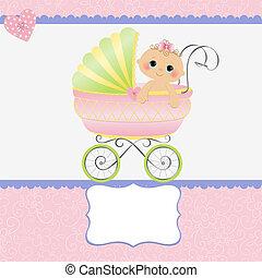赤ん坊, かわいい, テンプレート, カード