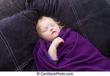 赤ん坊, かわいい, 睡眠
