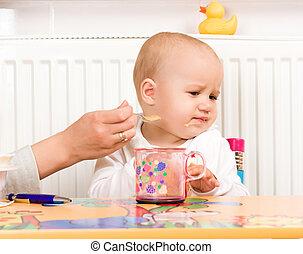 赤ん坊, わずかしか, 供給, プロシージャ