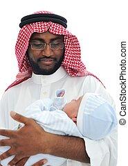 赤ん坊, アラビア, 父, 保有物, 幸せ