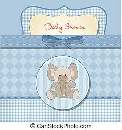 赤ん坊, カード, シャワー, ロマンチック