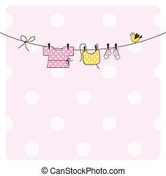 赤ん坊, カード, シャワー, 招待