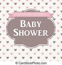 赤ん坊 シャワー, イラスト, 招待