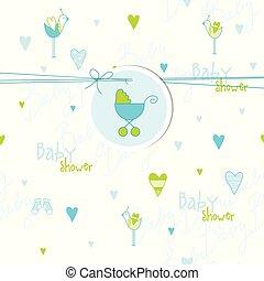 赤ん坊 シャワー, カード