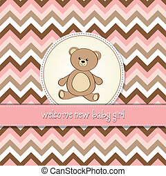 赤ん坊 シャワー, カード, テディ