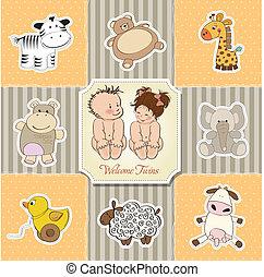赤ん坊 シャワー, カード, テンプレート