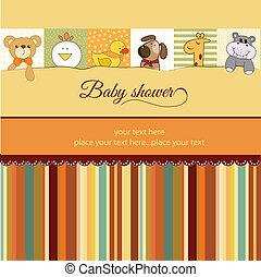 赤ん坊 シャワー, カード, 発表