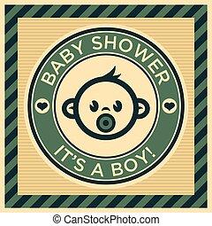 赤ん坊 シャワー, グリーティングカード