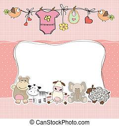 赤ん坊 シャワー, 女の子, カード