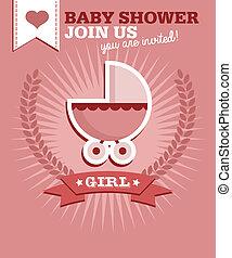 赤ん坊 シャワー, 女の子, 招待