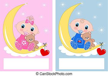 赤ん坊 シャワー, 新生, 赤ん坊