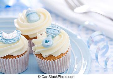 赤ん坊 シャワー, cupcakes