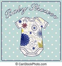 赤ん坊 シャワー, wath, 体, 衣類