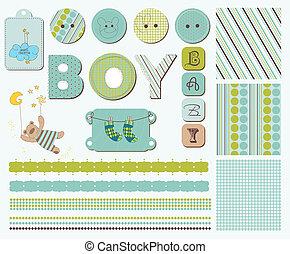 赤ん坊, スクラップブック, 要素, デザイン