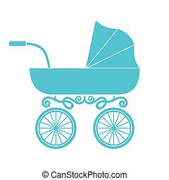 赤ん坊, 乳母車, 乗り物, -