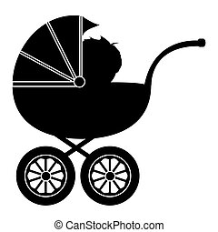 赤ん坊, 乳母車