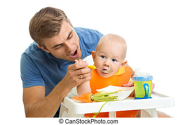 赤ん坊, 供給, 父, 息子