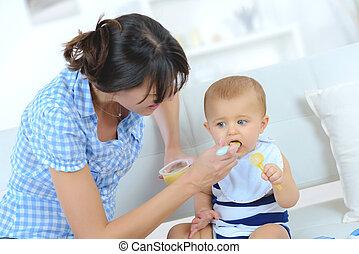 赤ん坊, 供給, 純粋, お母さん, 成果