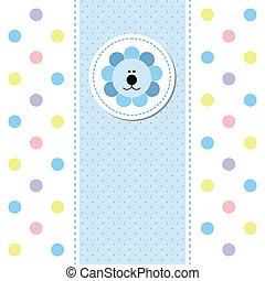 赤ん坊, 到着, デザイン, カード, 発表