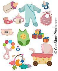 赤ん坊, 原料, 漫画, アイコン