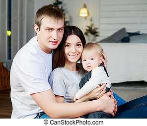 赤ん坊, 家族, 幸せ