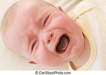 赤ん坊, 屋内, あること, 叫ぶこと