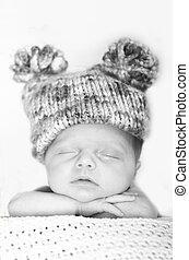 赤ん坊, 帽子, 睡眠