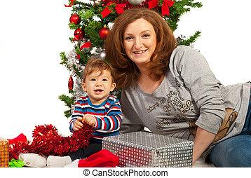 赤ん坊, 幸せな クリスマス, 母