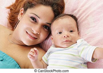赤ん坊, 幸せ, ラテン語, 彼女, 母