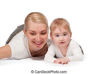 赤ん坊, 幸せ, 彼女, 母