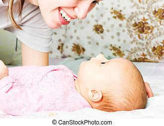 赤ん坊, 幸せ, 母