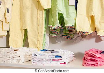 赤ん坊, 店, 衣服