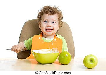 赤ん坊, 彼自身, 食べること
