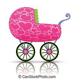 赤ん坊, 心, stroller