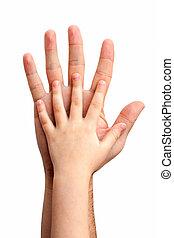 赤ん坊, 手