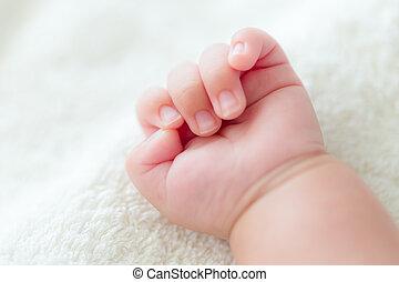赤ん坊, ∥新しい∥生まれた∥, 手