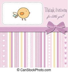 赤ん坊, 新しい, カード, 発表