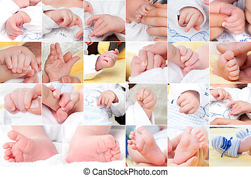 赤ん坊, 新しい, 構成, セット, 生まれる