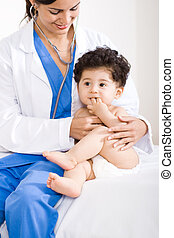 赤ん坊, 検査, 小児科医