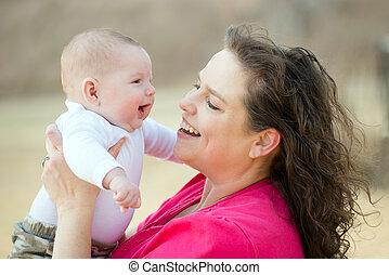 赤ん坊, 母親遊び, 幸せ