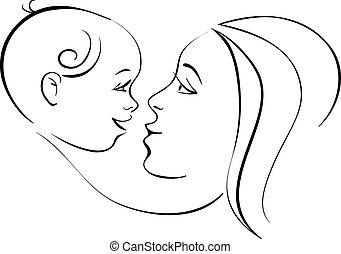赤ん坊, 母
