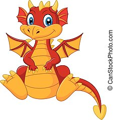 赤ん坊, 漫画, 赤, ドラゴン
