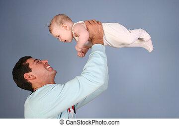 赤ん坊, 父