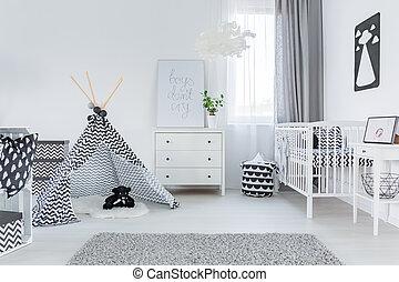 赤ん坊, 現代部屋