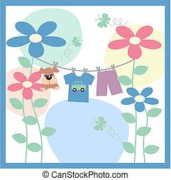 赤ん坊, 発表, カード