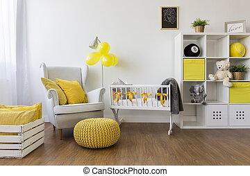 赤ん坊, 白, 家具