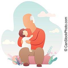 赤ん坊, 祖父