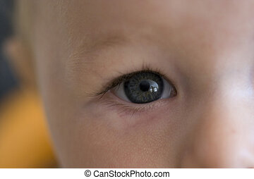 赤ん坊, 終わり, 目, の上