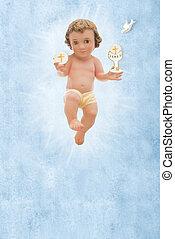 赤ん坊, 聖餐, 神聖, イエス・キリスト, バックグラウンド。, 最初に